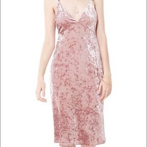 NWT Velvet Pink Strappy Slip Dress